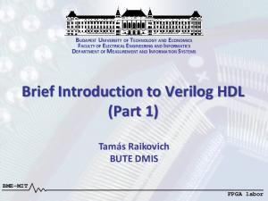 Brief Introduction to Verilog HDL (Part 1)