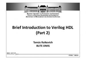 Brief Introduction to Verilog HDL (Part 2)