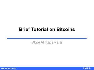 Brief Tutorial on Bitcoins
