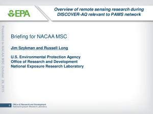 Briefing for NACAA MSC