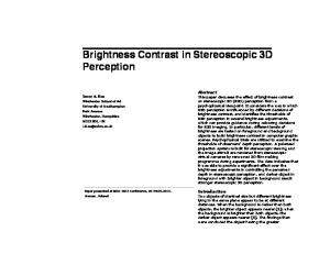 Brightness Contrast in Stereoscopic 3D Perception