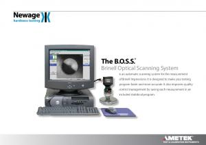 Brinell Optical Scanning System