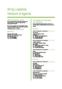 Bring Logistics Network of agents