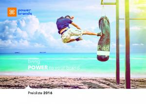 bring POWER to your brand Preisliste 2016