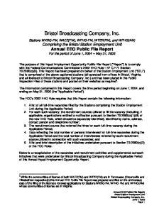 Bristol Broadcasting Company, Inc