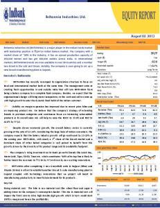 Britannia Industries Ltd. BUY. August 02, Investor s Rationale