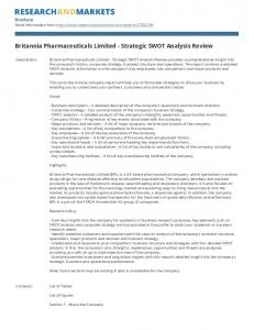 Britannia Pharmaceuticals Limited - Strategic SWOT Analysis Review