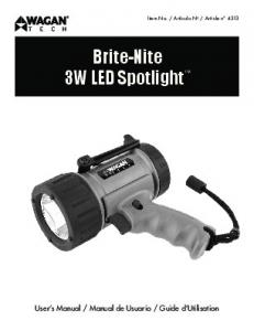 Brite-Nite 3W LED Spotlight
