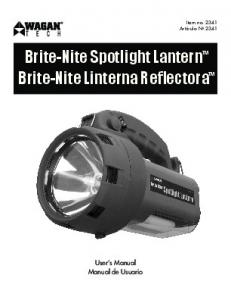 Brite-Nite Spotlight Lantern Brite-Nite Linterna Reflectora