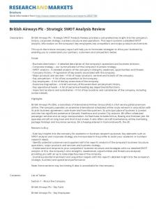 British Airways Plc - Strategic SWOT Analysis Review