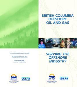 BRITISH COLUMBIA OFFSHORE OIL AND GAS