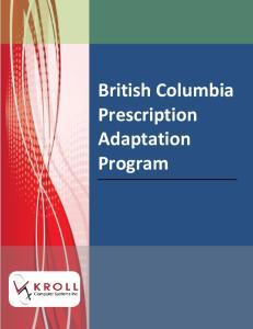 British Columbia Prescription Adaptation Program