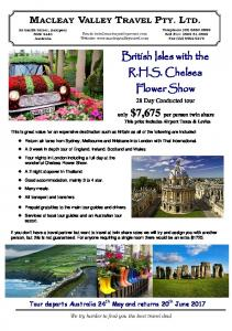 British Isles with the R.H.S. Chelsea Flower Show