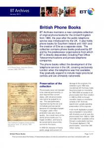 British Phone Books. Preservation of the collection