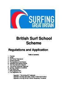 British Surf School Scheme