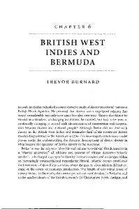 BRITISH WEST INDIES AND BERMUDA