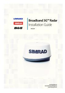 Broadband 3G Radar. Installation Guide ENGLISH