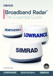 Broadband Radar. The Essential Guide