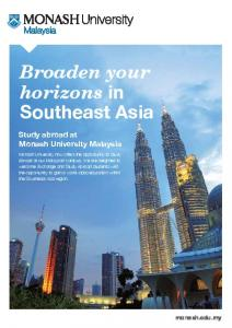 Broaden your horizons in Southeast Asia