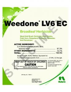 Broadleaf Herbicide. Weed And Brush Control In Small Grains, Field Corn, Rangeland, Pastures, Roadsides And Fencerows