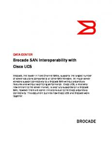 Brocade SAN Interoperability with Cisco UCS