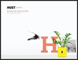 Brochure de servicios Service brochure 2016