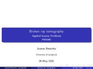 Broken ray tomography