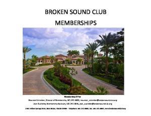 BROKEN SOUND CLUB MEMBERSHIPS