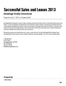Broker. Advantage Realty Commercial (O) (M)