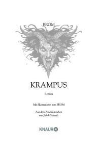 BROM KRAMPUS. Roman. Mit Illustrationen von BROM. Aus dem Amerikanischen von Jakob Schmidt