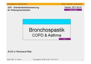Bronchospastik COPD & Asthma