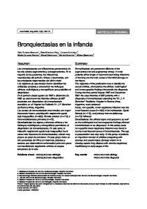 Bronquiectasias en la infancia