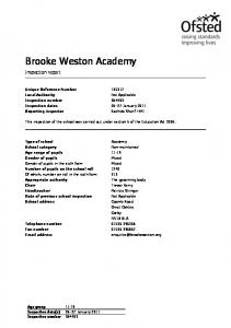 Brooke Weston Academy