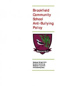 Brookfield Community School Anti-Bullying Policy