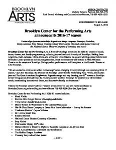 Brooklyn Center for the Performing Arts announces its season
