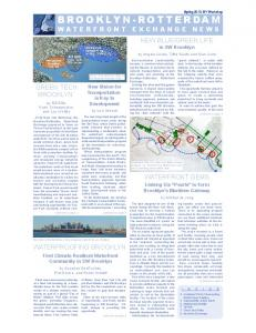 BROOKLYN-ROTTERDAM WATERFRONT EXCHANGE NEWS