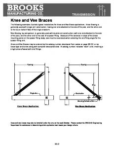 BROOKS. Knee and Vee Braces MANUFACTURING CO. TRANSMISSION B3.2