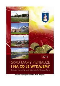Broszura wydana przez Burmistrza Miasta Nowy Targ