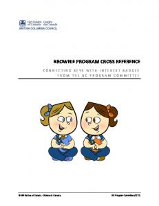 BROWNIE PROGRAM CROSS REFERENCE
