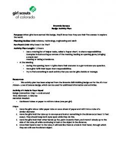 Brownie Senses Badge Activity Plan