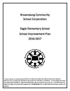 Brownsburg Community School Corporation. Eagle Elementary School School Improvement Plan