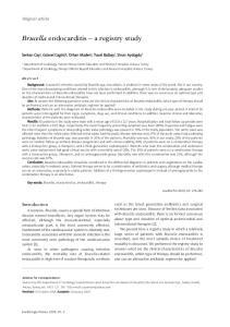 Brucella endocarditis a registry study