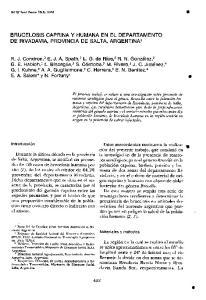 BRUCELOSIS CAPRINA Y HUMANA EN EL DEPARTAMENTO DE RIVADAVIA, PROVINCIA DE SALTA, ARGENTINA