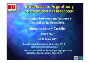 Brucelosis en Argentina y otros paises del Mercosur
