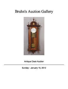 Bruhn's Auction Gallery. Antique Clock Auction
