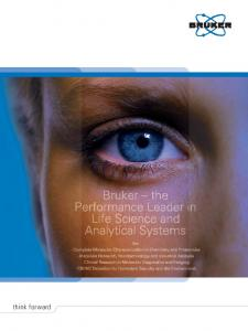 Bruker the performance leader in life science and analytical systems