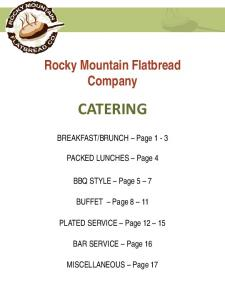 BRUNCH Page 1-3. PACKED LUNCHES Page 4. BBQ STYLE Page 5 7. BUFFET Page PLATED SERVICE Page BAR SERVICE Page 16