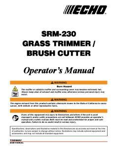 BRUSH CUTTER. Operator s Manual