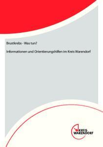 Brustkrebs - Was tun? Informationen und Orientierungshilfen im Kreis Warendorf