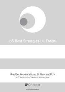 BS Best Strategies UL Fonds